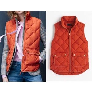 J.Crew Sz S Excursion Quilted Down Vest EUC